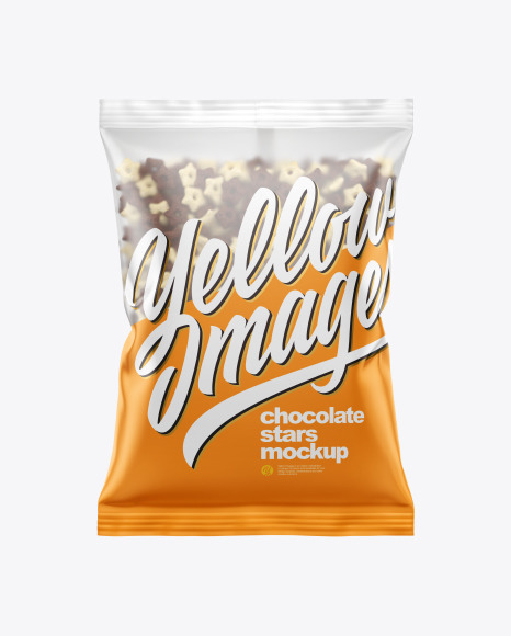 Download Matte Bag With Duo Stars Cereal PSD Mockup