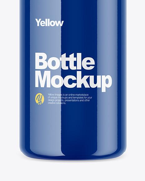Glossy Bottle Mockup