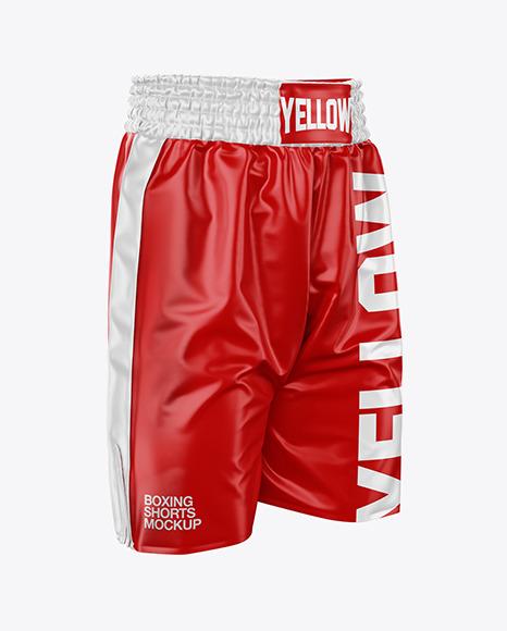 Boxing Shorts Mockup - Half Side View