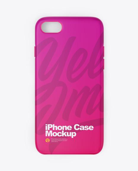 Download iPhone Matte Case PSD Mockup