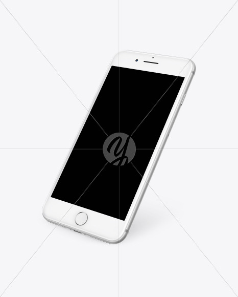 Silver Apple Iphone 7 Mockup