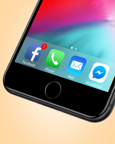 Space Gray Apple Iphone 7 Mockup