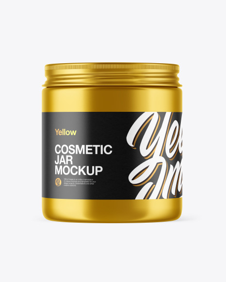 Download Metallic Cosmetic Jar PSD Mockup