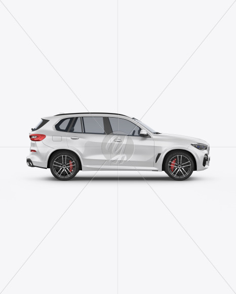 Crossover SUV Mockup - Side View