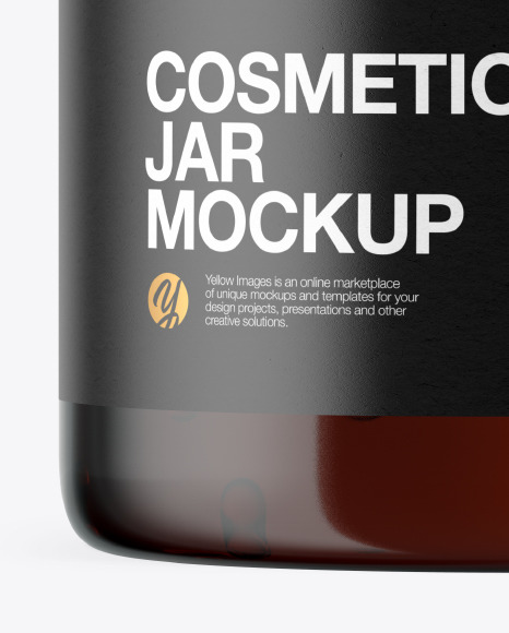 Amber Jar with Gel Mockup