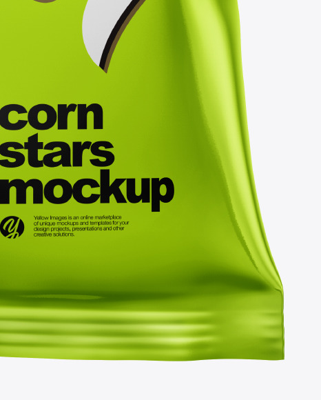 Frosted Bag With Honey Stars Cereal Mockup