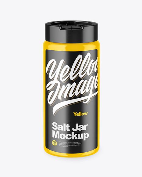 Download Glossy Salt Jar PSD Mockup