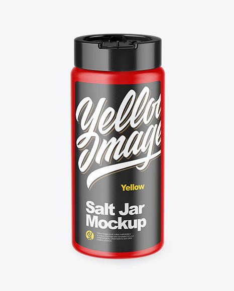 Download Matte Salt Jar PSD Mockup