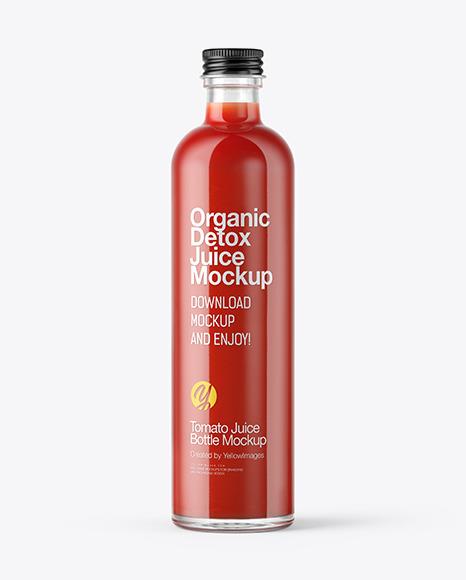 Download Tomato Juice Bottle PSD Mockup