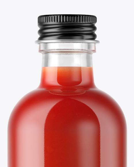 Tomato Juice Bottle Mockup