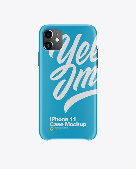 Download iPhone 11 Matte Case PSD Mockup