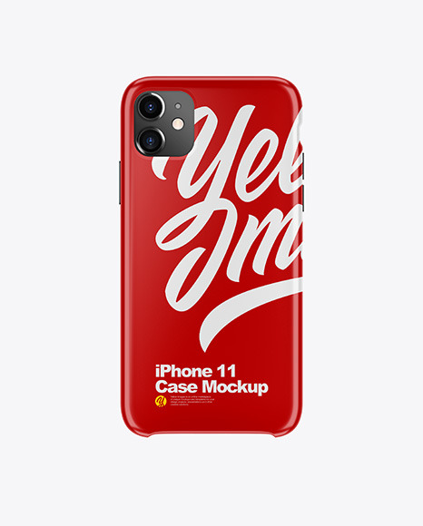 Download iPhone 11 Glossy Case PSD Mockup