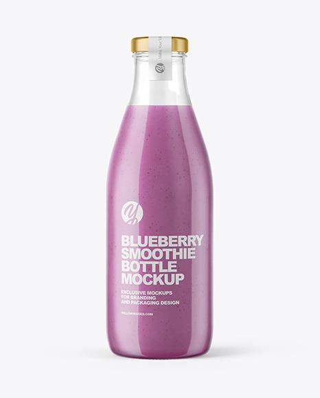 Download Blueberry Smoothie Bottle PSD Mockup