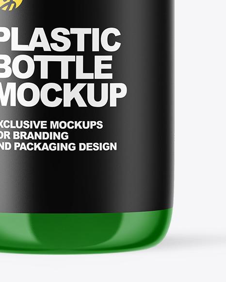 Glossy Plastic Oil Bottle Mockup