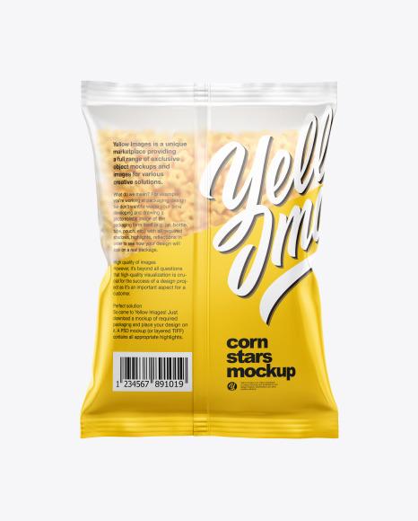 Download Matte Bag With Honey Stars Cereal PSD Mockup
