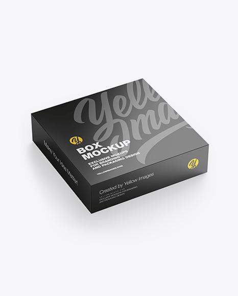 Download Glossy Paper Box PSD Mockup