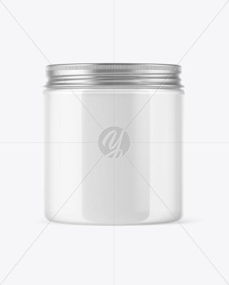 Clear Cosmetic Jar Mockup