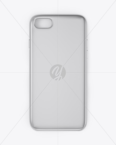 iPhone Metallic Case Mockup