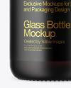 Frosted Dark Amber Glass Bottle Mockup
