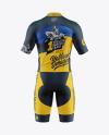 Men's Cycling Suit Mockup