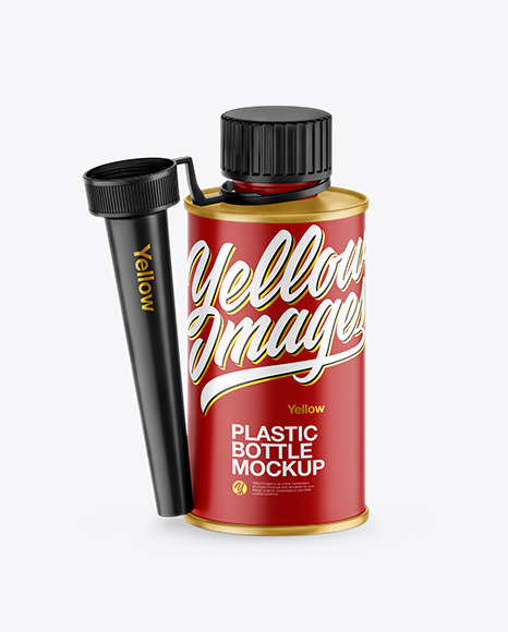 Download Matte Bottle w Spout Cap PSD Mockup