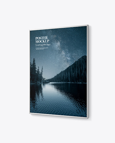 Download Glossy Frame Poster PSD Mockup