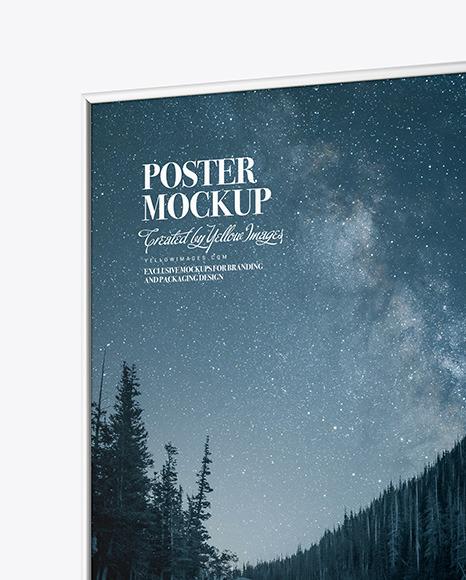 Plastic Frame Poster Mockup Mockup