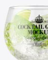 Gin & Tonic Cocktail Glass Mockup