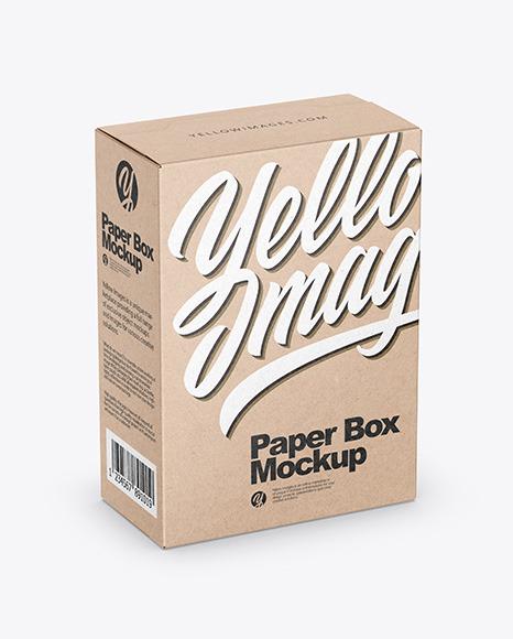 Download Kraft Box PSD Mockup