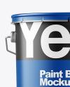 Matte Paint Bucket Mockup