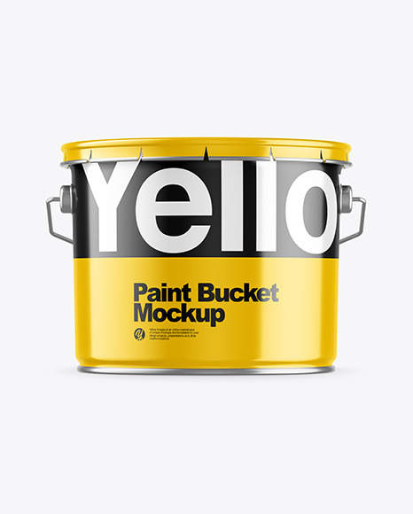 Download Glossy Paint Bucket PSD Mockup