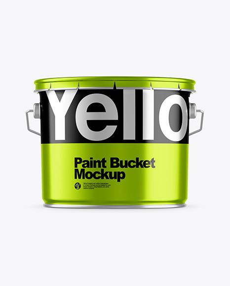 Download Metallic Paint Bucket PSD Mockup