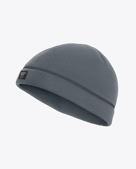 Download Fleece Hat Side View PSD Mockup