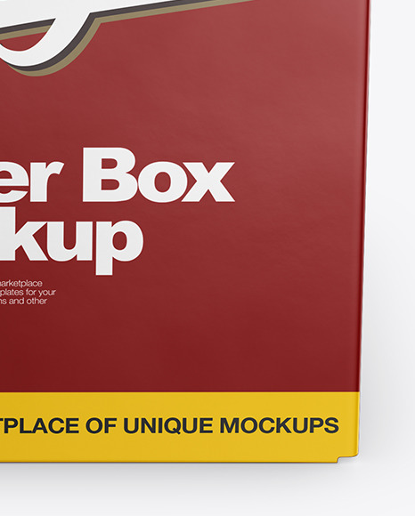 Textured Paper Box Mockup - Front View