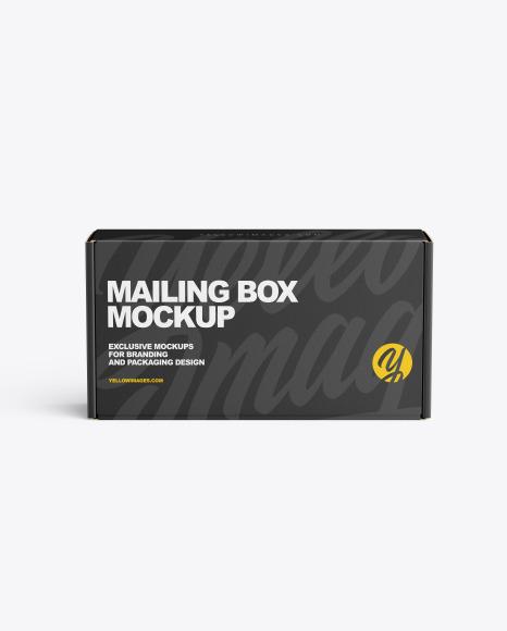 Download Paper Mailing Box PSD Mockup