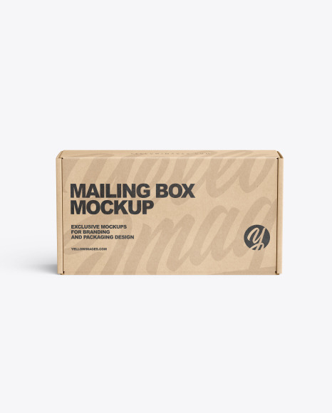 Download Kraft Paper Mailing Box PSD Mockup