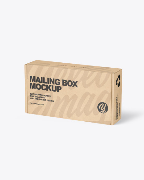 Download Kraft Paper Mailing Box PSD Mockup