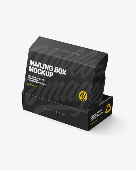 Download Opened Paper Mailing Box PSD Mockup