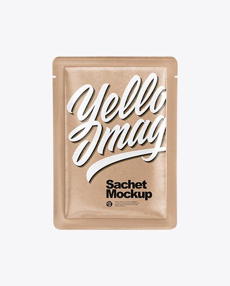 Download Kraft Paper Sachet PSD Mockup