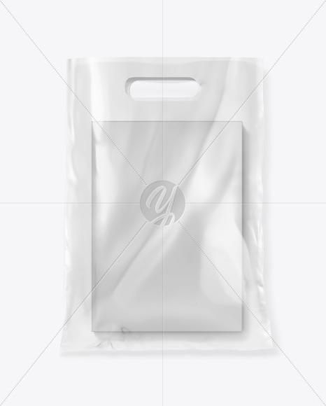Transparent Bag w/ Book Mockup