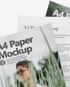 Three A4 Papers Mockup