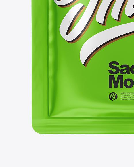 Glossy Sachet Mockup