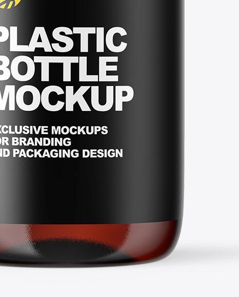 Amber Glass Oil Bottle Mockup