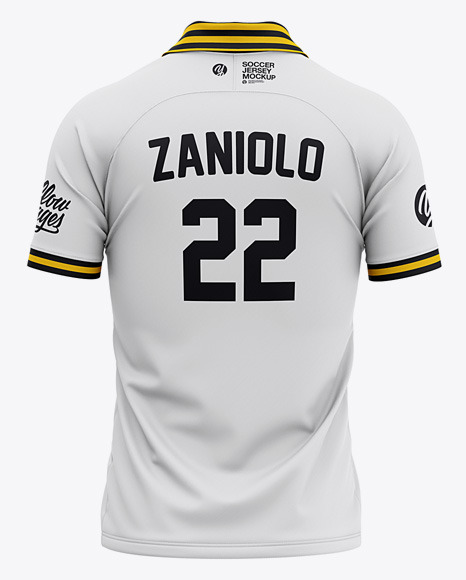 Download Mens Raglan Short Sleeve Cricket Jersey Polo Shirt Back View Of Soccer Jersey Yellowimages