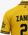 Men's Soccer Jersey Mockup - Back View Of Soccer Polo T-Shirt