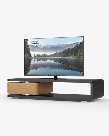 TV on a Table Mockup