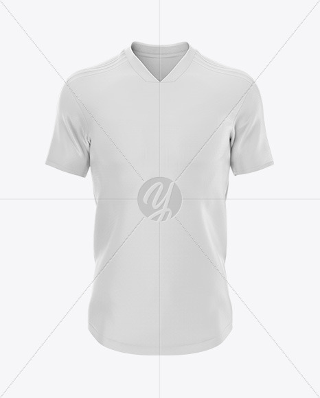 Football 3 Stripes V-Neck Shirt Mockup