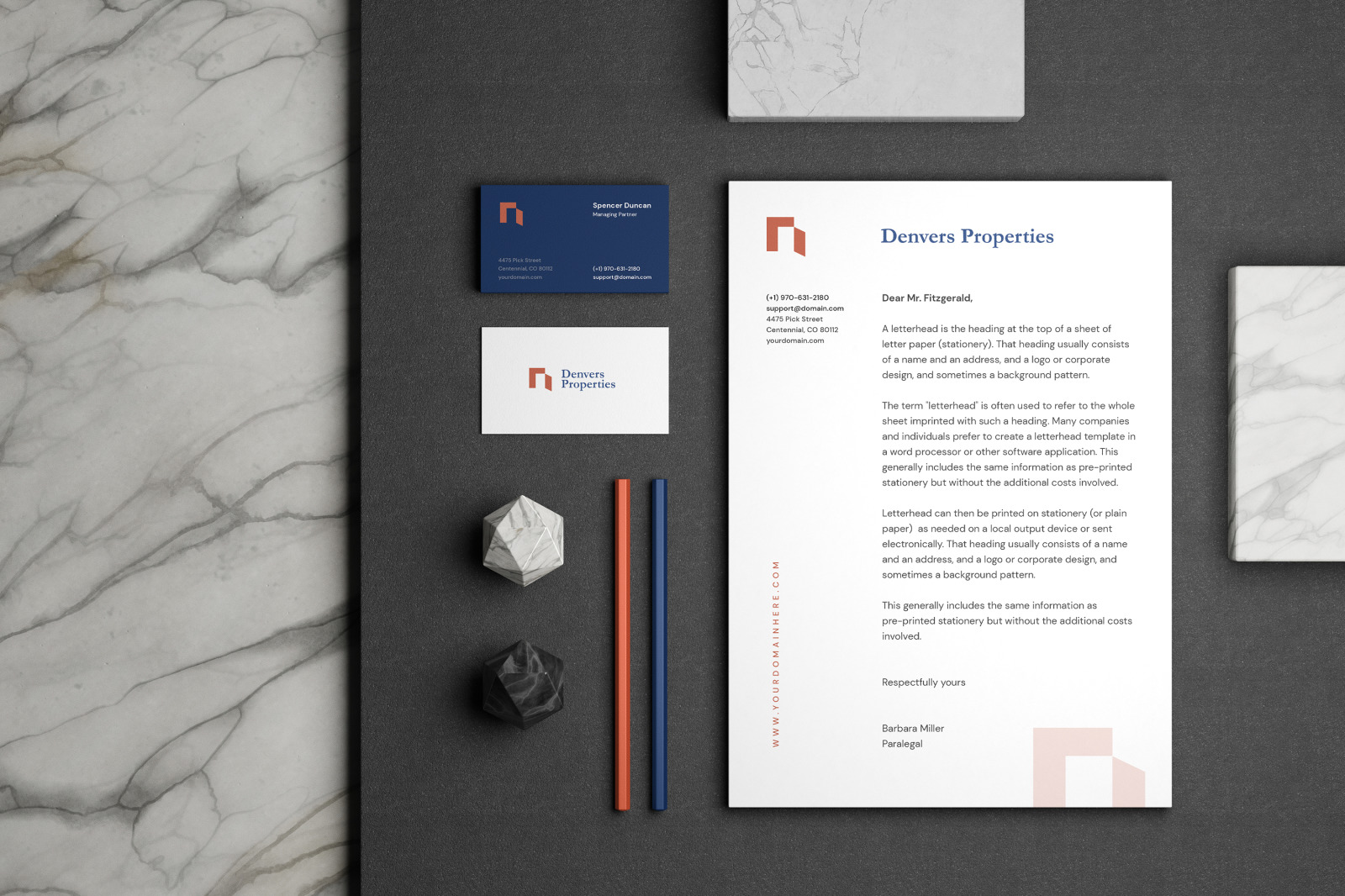 Minimal Corporate Stationery Mockup