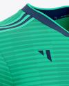 Football 3 Stripes V-Neck Shirt Mockup