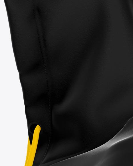 Zipped Hoodie Mockup - Left Side View